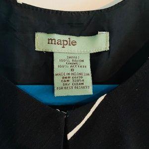Anthropologie Dresses - ANTHROPOLOGIE Maple Green/Black wrap dress Size 8